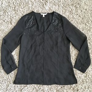 Banana Republic Tops - Banana Republic chiffon sequin tunic blouse preppy